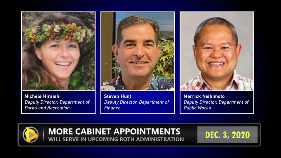 Third Round Of Roth Cabinet Positions Announced