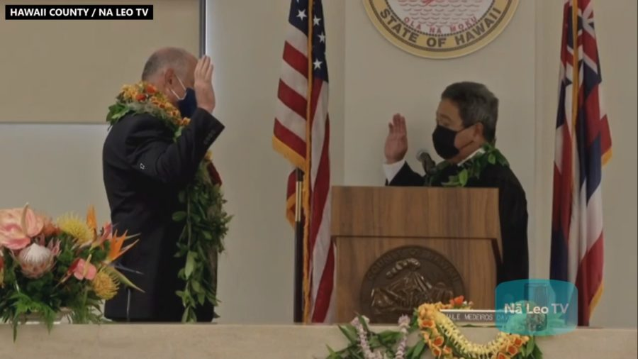 Hawaiʻi County Inauguration Live Streamed From Both Sides Of Big Island