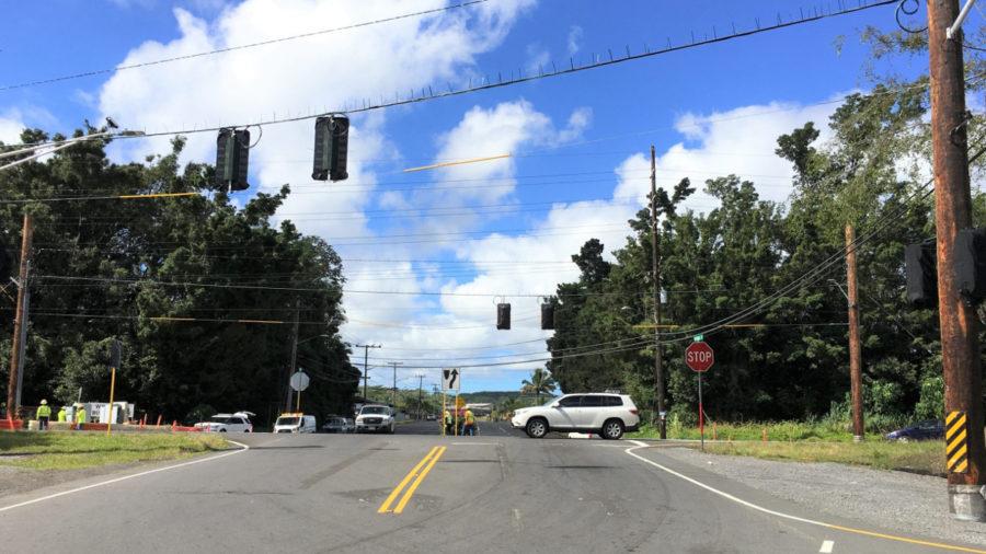 Traffic Signals On Highway 11 Near Keaʻau Adjusted
