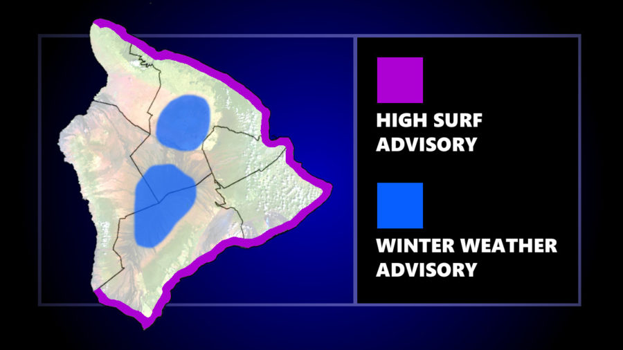 Winter Weather, High Surf Expected For Hawaiʻi Island