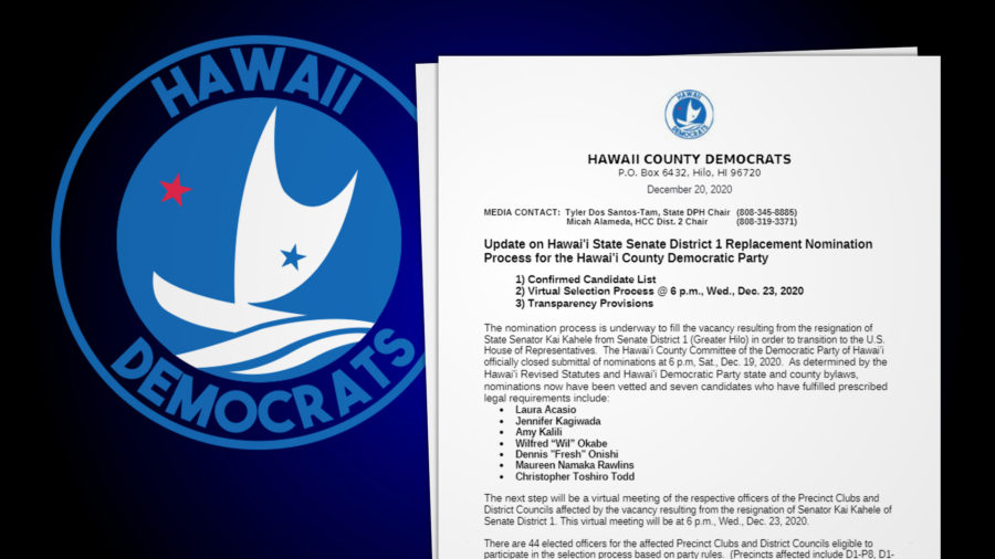 7 Democrats Nominated, 1 Will Be Hilo's Next State Senator