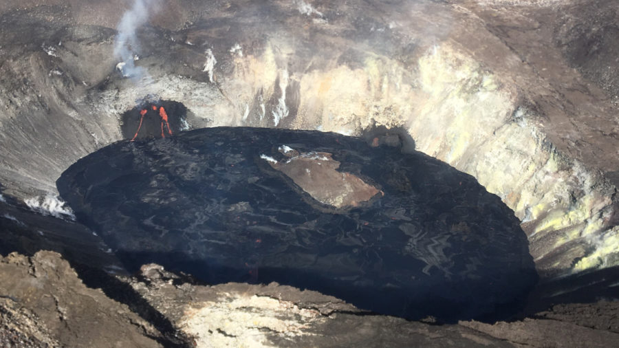 VIDEO: Kilauea Eruption Day Six, Lava Lake Drowns Fissure