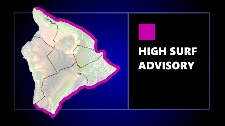 High Surf Advisory In Effect For East Hawaii