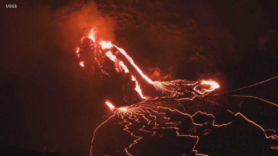 VIDEO: Lava Cascades Continue At Erupting Kilauea