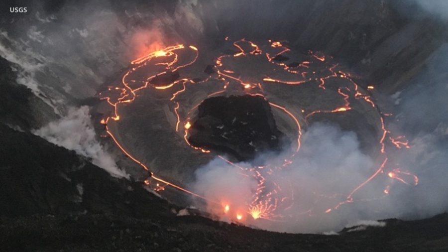 VIDEO: Kilauea Eruption Update: Lava Lake Rising Again