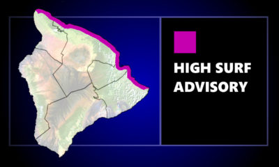 High Surf Advisory For North-Facing Shores Of Hawaiʻi Island