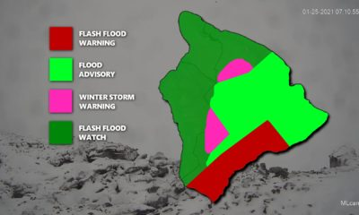 Flash Flood Warning For Kaʻū, Highway 11 Closed