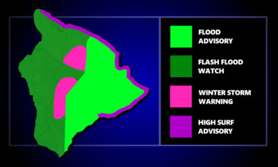 Flood Advisory For East Hawaii, Winter Storm Warning For Summits