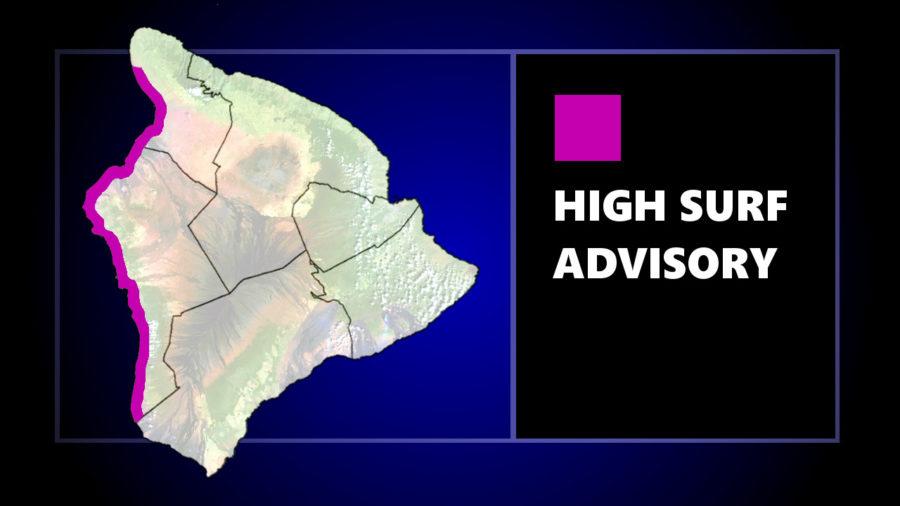 Kahaluʻu Beach Closed, High Surf Advisory For West Hawaiʻi
