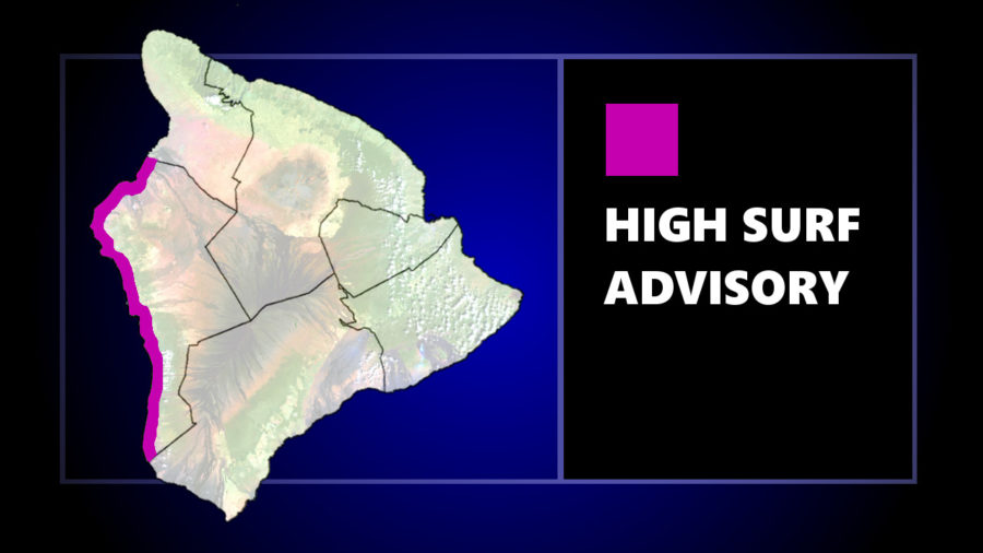 High Surf Advisory Posted For West Hawaiʻi