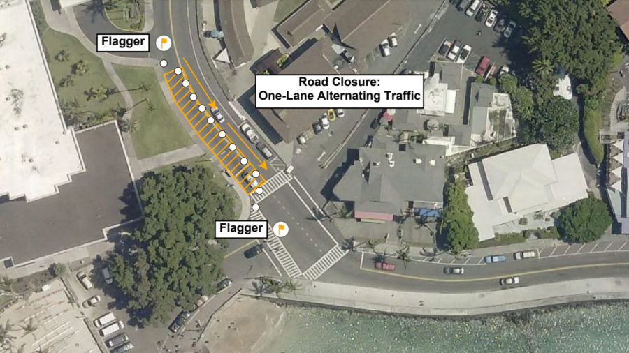 Aliʻi Drive Roadwork Planned For Tuesday