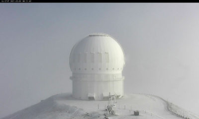 Fresh Snow On Mauna Kea, Winter Weather Advisory Continues