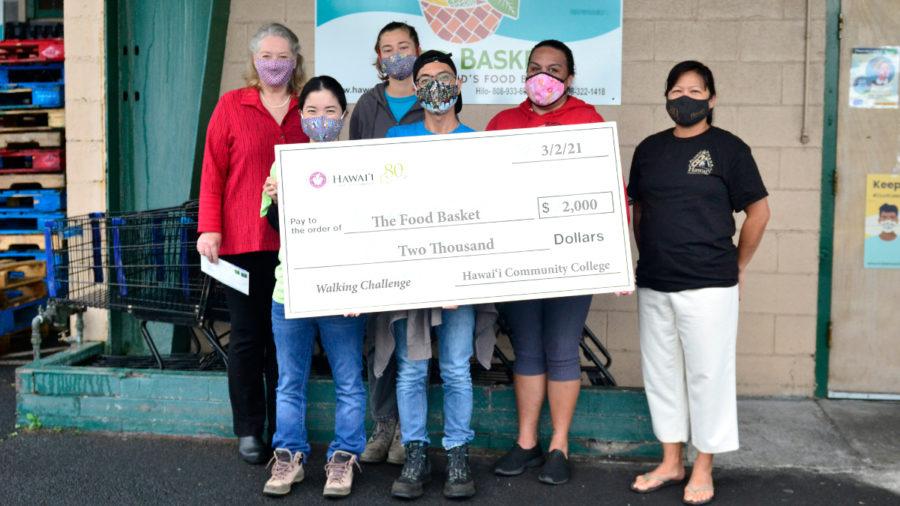 """Walking Challenge"" Donation To Food Basket Made"