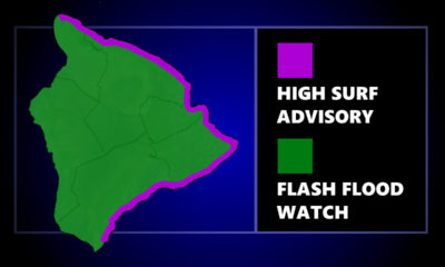 Flash Flood Watch, High Surf Advisory For Hawaiʻi Island