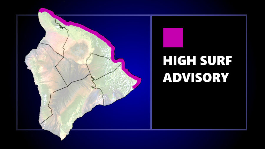High Surf Advisory Remains In Effect For East Facing Shores Of Big Island