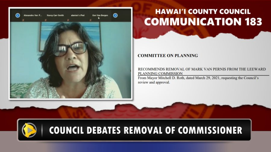 VIDEO: Hawaii County Council Debates Removal Of Planning Commissioner