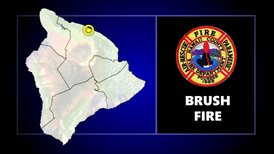 Paʻauilo Brush Fire Closes Highway, Shelter Opened