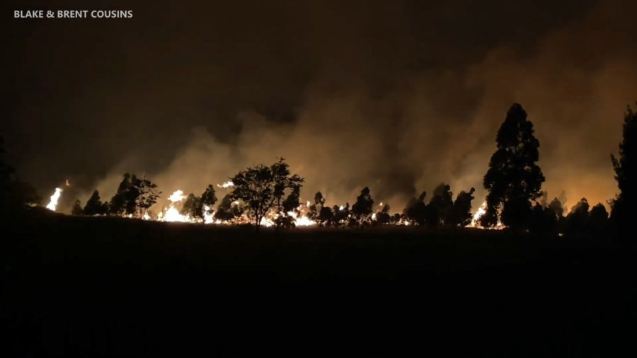 VIDEO: Large Brush Fire Burns Over 1,400 Acres In Paʻauilo