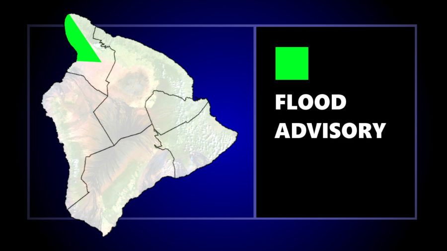Flood Advisory Issued For Kohala Districts