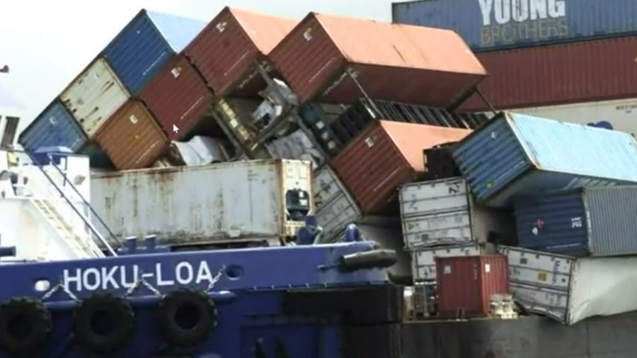 Hawaiʻi PUC Briefed On Young Brothers Toppled Cargo Incident