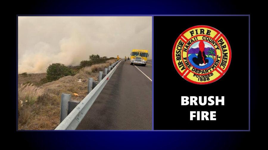 Saddle Road Brush Fire Update