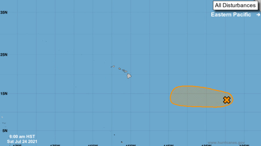 Potential For Tropical Depression Tracked Far East Southeast Of Hawaiʻi