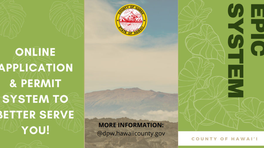 Hawaiʻi County EPIC Online Permit System Goes Live