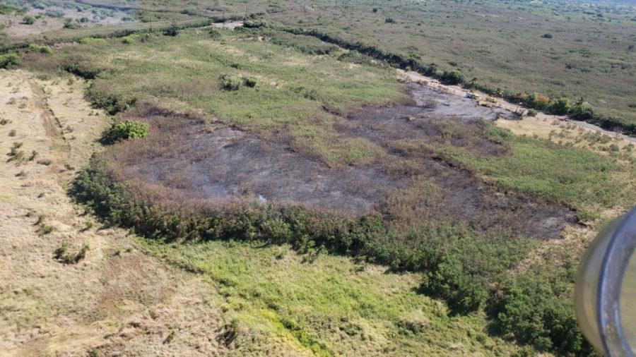 Brush Fire Burning On Ninole Loop Near Punaluʻu Beach