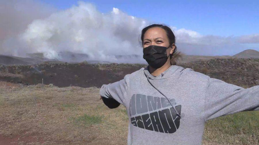 VIDEO: Puʻukapu Homesteaders Face Large Brush Fire