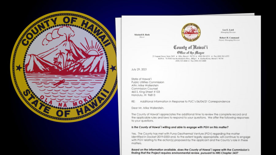 Hawaiʻi County Unwilling To Be Accepting Authority For PGV Environmental Review
