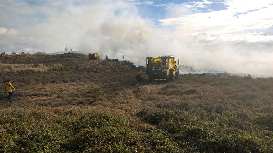 10-Acre Wildland Fire Reported In Keamuku Maneuver Area