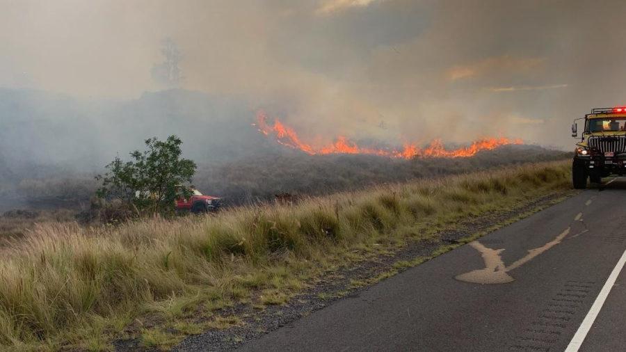 Brush Fire Closes Daniel K. Inouye Highway Friday Evening