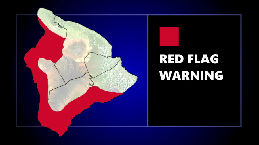 Red Flag Warning In Effect For Parts Of Hawaiʻi Island