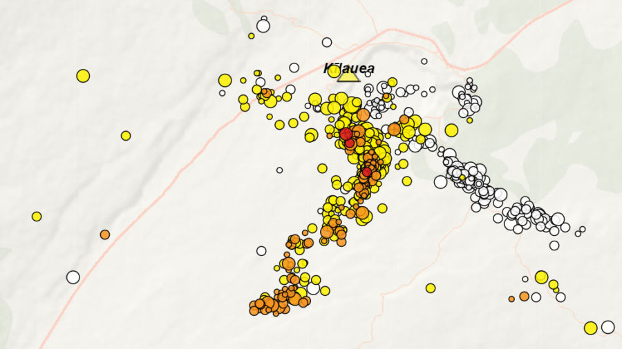 Kilauea Volcano Update: Ground Deformation, Earthquakes Continue