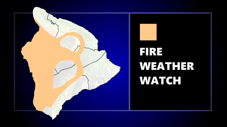 Fire Weather Watch For Leeward Areas Of Hawaiʻi Friday Morning