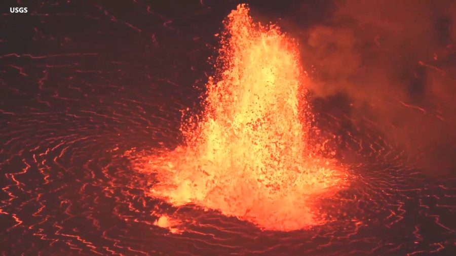 VIDEO: First Video From New Kilauea Eruption Shows Towering Fountains