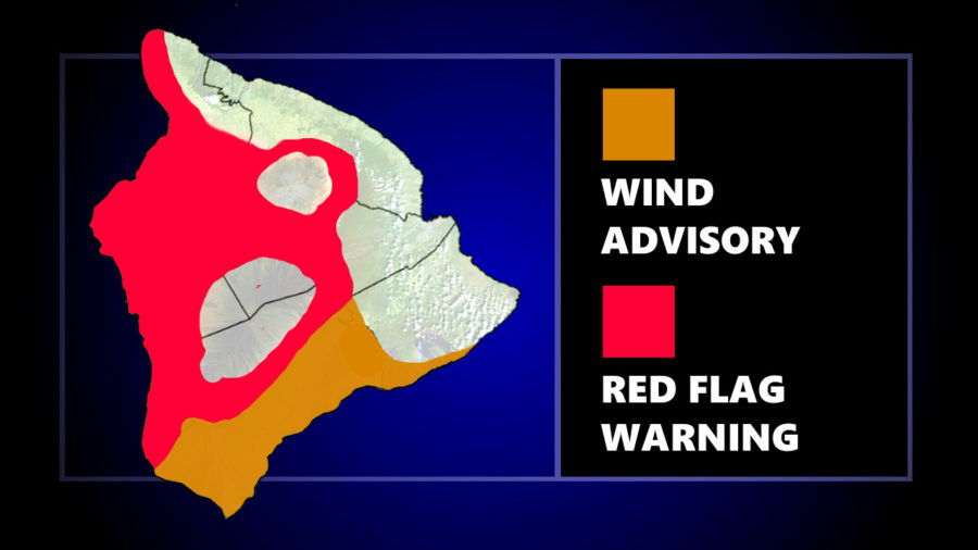 Red Flag Warning, Wind Advisory For Hawaiʻi